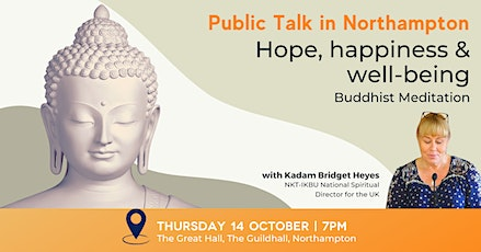 Hope, happiness and well-being through Buddhist meditation tickets