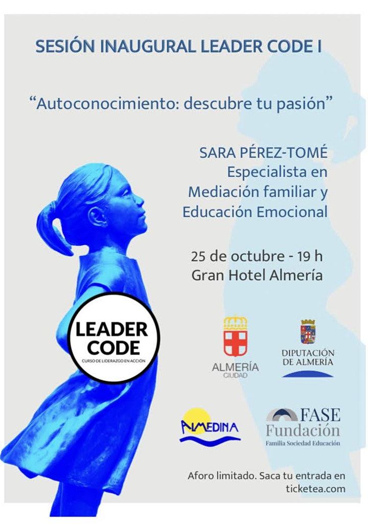 Imagen de SESIÓN INAUGURAL LEADER CODE I ALMEDINA  AUTOCONOCIMIENTO  SARA PEREZ TOME