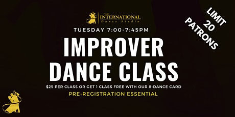 [NOVEMBER] Join 5  Adult Improver Dance Class! tickets