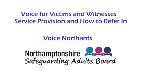 Voice for Victims and Witnesses Service Provision and How to Refer In tickets