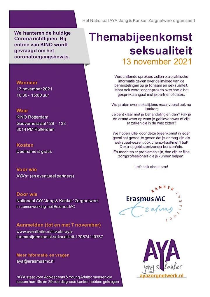 Afbeelding van AYA-themabijeenkomst Seksualiteit