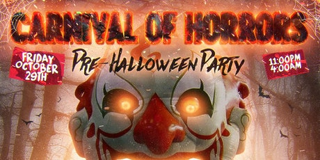 Carnival Of Horrors Halloween Party: Free Hennessy Drinks tickets