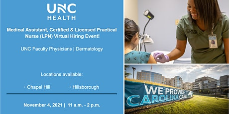 Medical Assistant, Certified & Licensed Practical Nurse LPN Virtual Hiring tickets