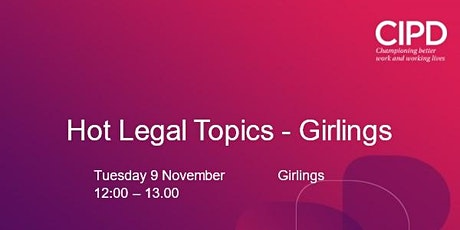 Hot Law Topics - Girlings tickets