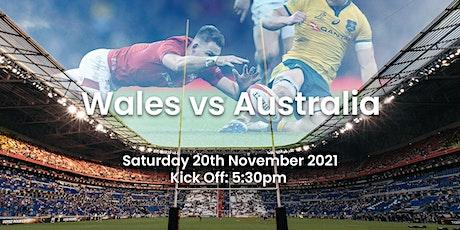Wales v Australia | Rugby Internationals tickets