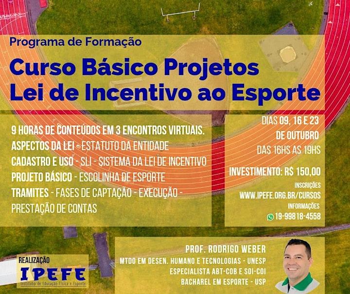 Imagem do evento CURSO LEI DE INCENTIVO AO ESPORTE & ELABORAÇÃO DE PROJETOS