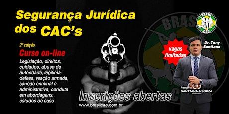 Curso Online - Segurança Jurídica para CAC's - 2ª Edição entradas