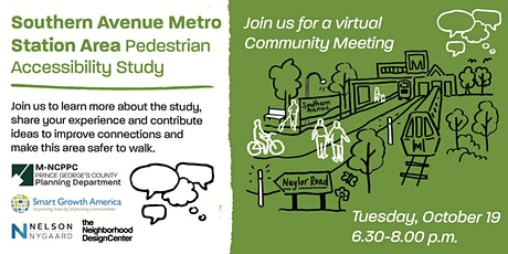 Southern Avenue Metro Station Areas Pedestrian Accessibility Study Meeting tickets