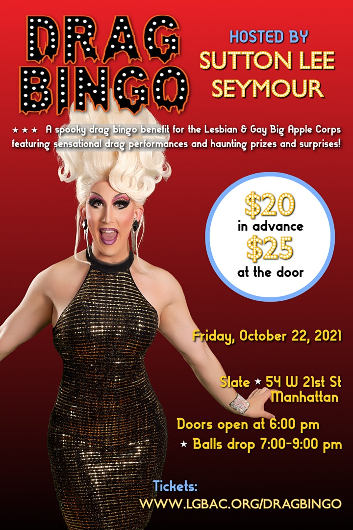 Drag Bingo 2021 - A Fundraiser for The Lesbian & Gay Big Apple Corps image