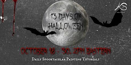 13 Days of Halloween - Free Acrylic Painting Tutorials tickets