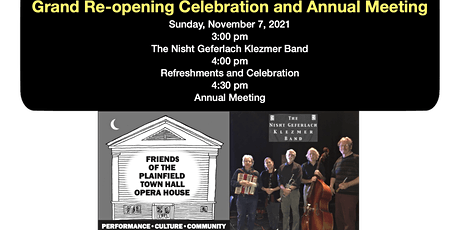 Re-opening Celebration and Annual Meeting - LIVE STREAM tickets