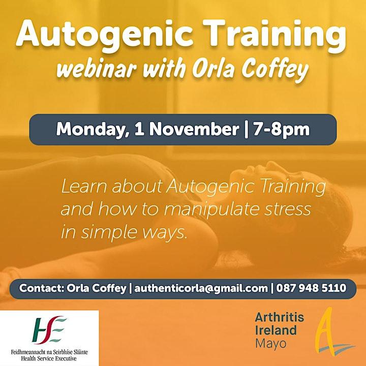 Autogenic Training webinar with Orla Coffey image