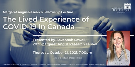 The Lived Experience of COVID-19 in Canada tickets