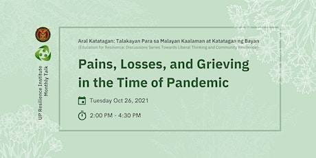 Pain, Losses, and Grieving in the Time of Pandemic tickets
