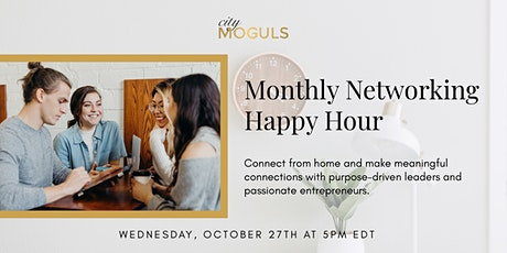 Monthly Networking Happy Hour for Entrepreneurs - October Edition tickets