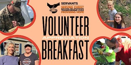 2021 Servants Volunteer Appreciation Breakfast tickets