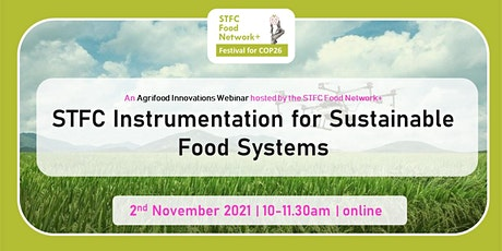 STFC Instrumentation for Sustainable Food Systems tickets