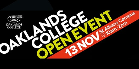 Oaklands College St Albans Campus Open Day tickets