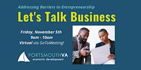 Nov. Let's Talk Business | Portsmouth Economic Development Series tickets