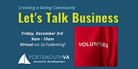 Dec. Let's Talk Business | Portsmouth Economic Development Series tickets