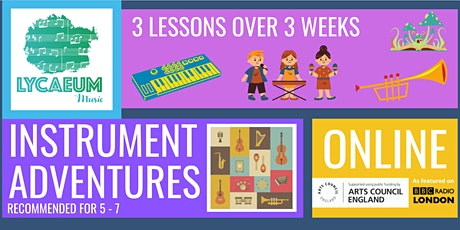 Instrument Adventures (5 - 7yo) - Pick your weekly time slot tickets