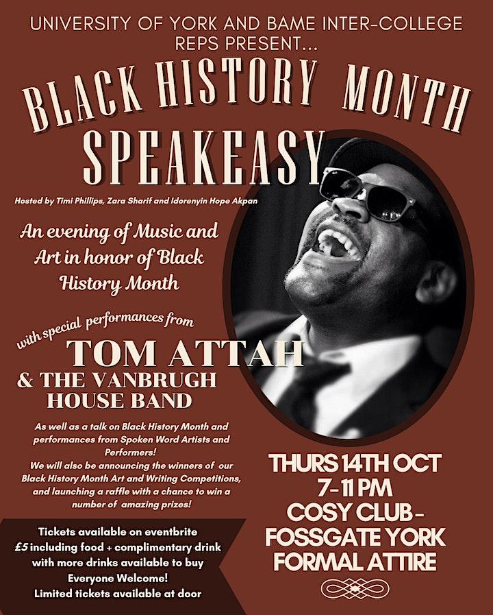 Black History Month Speakeasy image