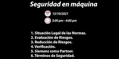 """TALLER """"SEGURIDAD EN MAQUINA"""" SIEMENS tickets"""