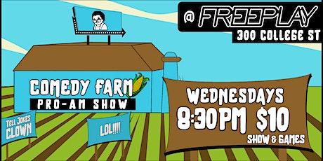 Bubbies Boys Presents: Comedy Farm / New Material Night @ Freeplay tickets