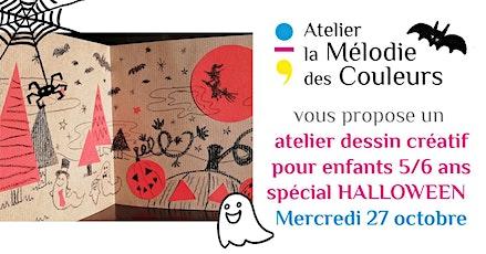 Atelier dessin créatif Halloween enfants 5/6 ans billets