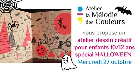 Atelier dessin créatif Halloween enfants 10/12 ans billets