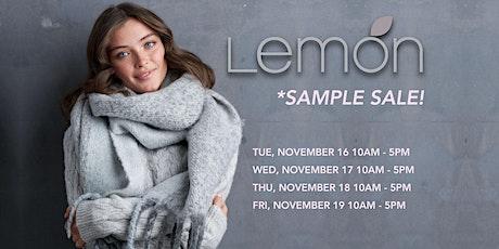 Lemon Collections  -  SAMPLE SALE *November 16 -19 tickets