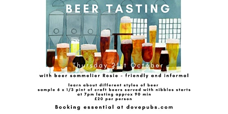 Beer Tasting evening at The Dove tickets