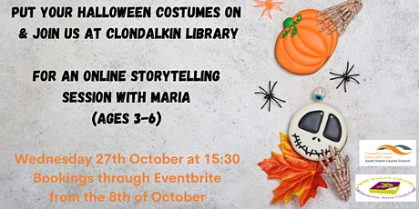 Online Halloween storytelling event for ages 2-6 tickets