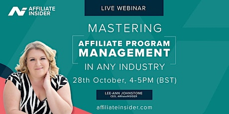 Mastering Affiliate Program Management in any industry tickets