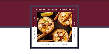 Learning & Libations: Boozy Fall Flavors Cocktail Class tickets