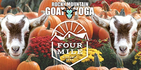Sunset Baby Goat Yoga - October 16th  (FOUR MILE HISTORIC PARK) tickets