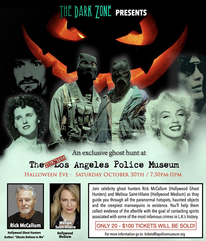 Halloween Eve Ghost Investigation at the Los Angeles Police Museum image