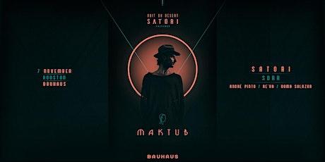 Satori Presents MAKTUB @ Patio Sunday Funday tickets