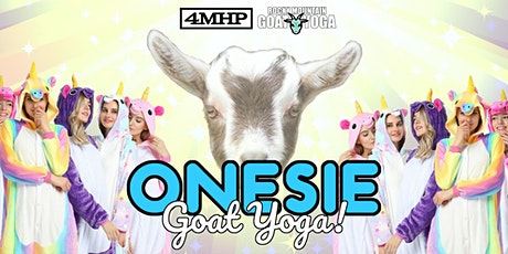 Onesie Goat Yoga - October 30th  (FOUR MILE HISTORIC PARK) tickets