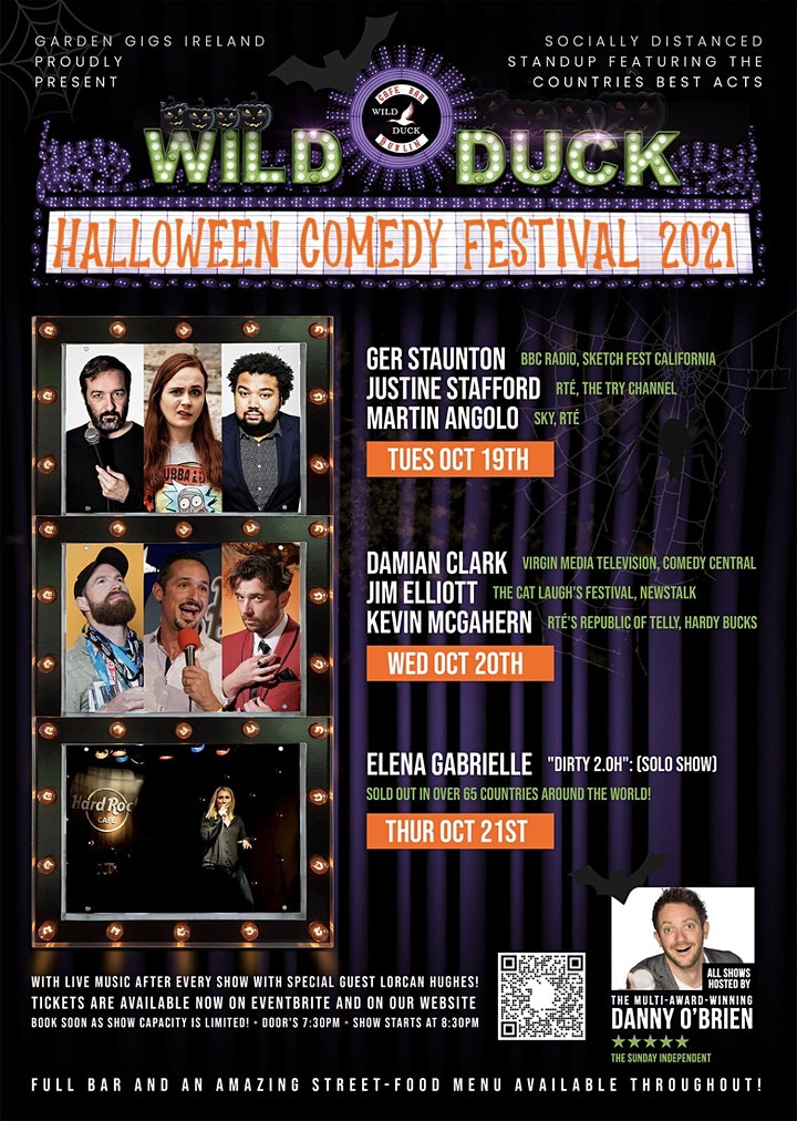 The Wild Duck Halloween Comedy Festival! WEDNESDAY, OCTOBER 20TH 2021 image