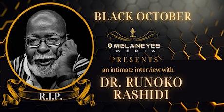 An Intimate Interview with Dr. Runoko Rashidi tickets