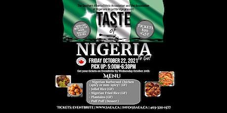 Taste of Nigeria To Go! tickets