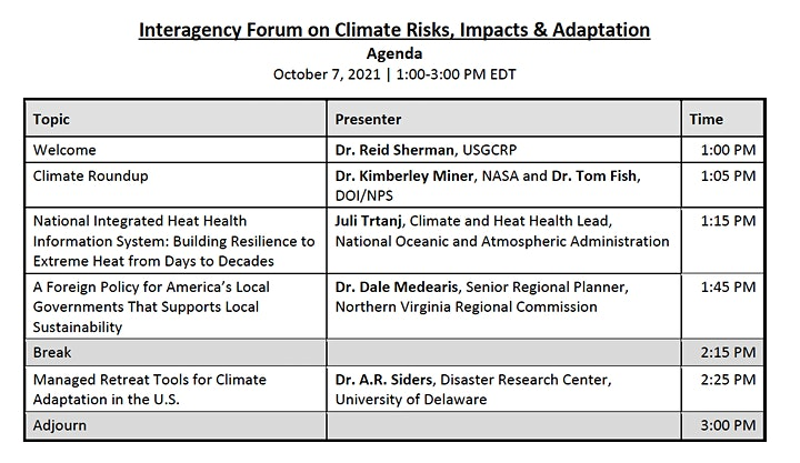 Interagency Forum on Climate Risks, Impacts and Adaptations image