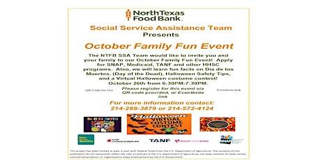 NTFB/SSA-October Family Fun Event! tickets