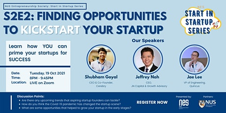 NES SIS: Finding opportunities to kickstart your startup tickets