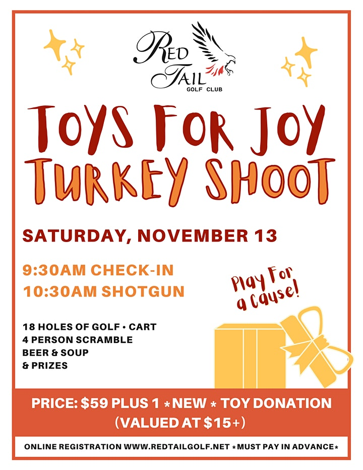 2021 TOYS FOR JOY Turkey Shoot Golf Tournament at Red Tail Golf Club image