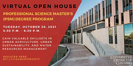 Professional Science Master's degree (PSM) Open House tickets