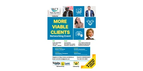 More Viable Clients ON-LINE & IN-PERSON Networking Event! tickets