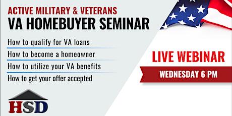 Active Military & Veterans VA Homebuyer Webinar tickets
