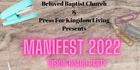Manifest 2022 Vision Board Party tickets
